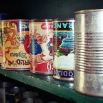 Old Cans on a Shelf